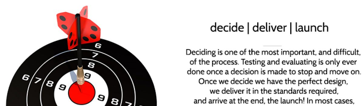 Step 6 – decide | deliver | launch