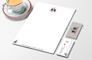 Business Card & Letterhead Stand In The Gap